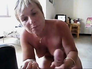 Gramma Gets A Mouthful Of Cum!