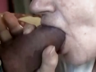 Granny cums another time