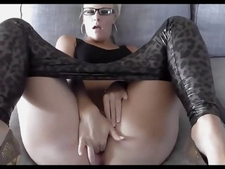 Horny German blonde with..