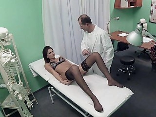 Hottie getting her dose of..
