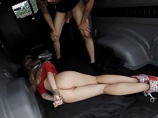 Hardcore car sex with tied &..