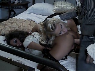 Two dolls get fucked in..