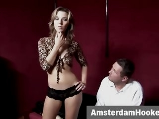 Blonde prostitute sucking..