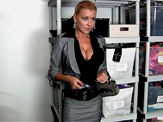 Sexy boss at the modeling..