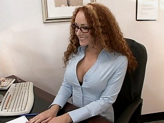 Curly redhead counselor..