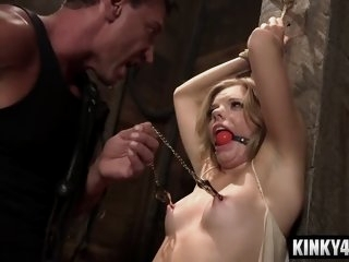 Hot pornstar bdsm bondage..