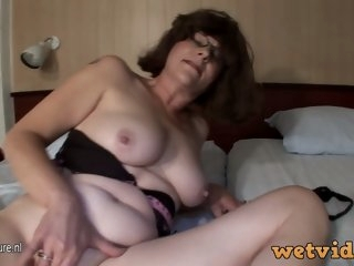 A big breasted mature slut..