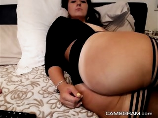 Naughty Big Ass Whore Toying..