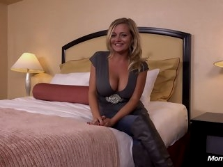 Hot big tits MILF does first..