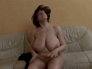 Mature lady with really huge..