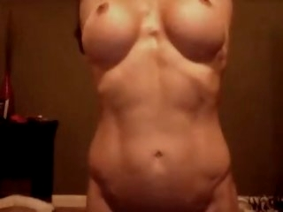 Fit girl teases and plays on..