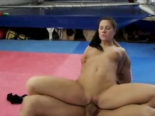 guy dominates girl in mixed..