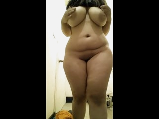 Chubby girl with big boobs..