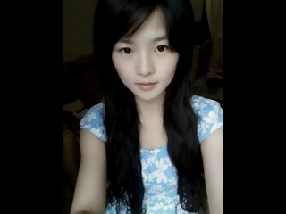 Cute chinese teen dancing on..