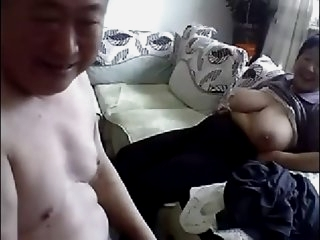 Old Chinese Couple Get Naked..