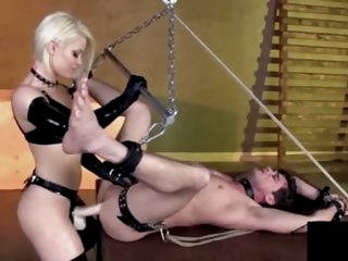 Blonde mistress fucks him..