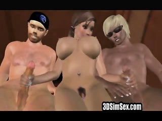 3D animation threesome