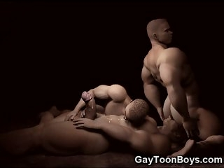 3D Gay Big Cocks and Muscles!