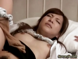 Japanese asian nurse blowjob..