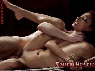 Brutal gape and big tit bdsm..