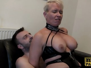 Mature Britt cocksucks dom..