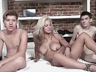 MILF and 2 Teen boys