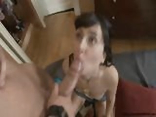 Young slut takes butt..